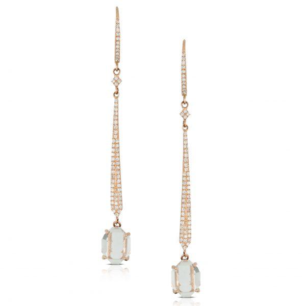 , White Topaz Drop Earrings