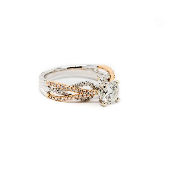 , S. Kashi 2 Tone Diamond Engagement Ring
