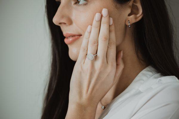 , Halo Engagement Ring