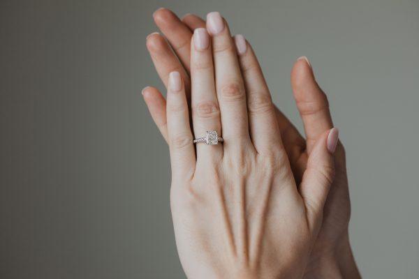 , 1.71 Radiant Cut Engagement Ring