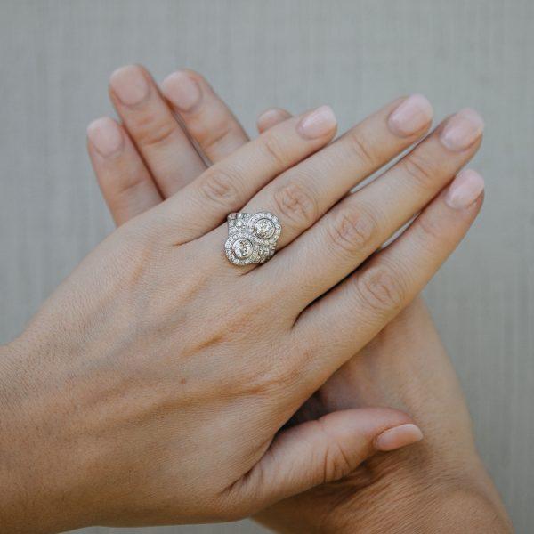 , Antique Platinum Diamond Ring