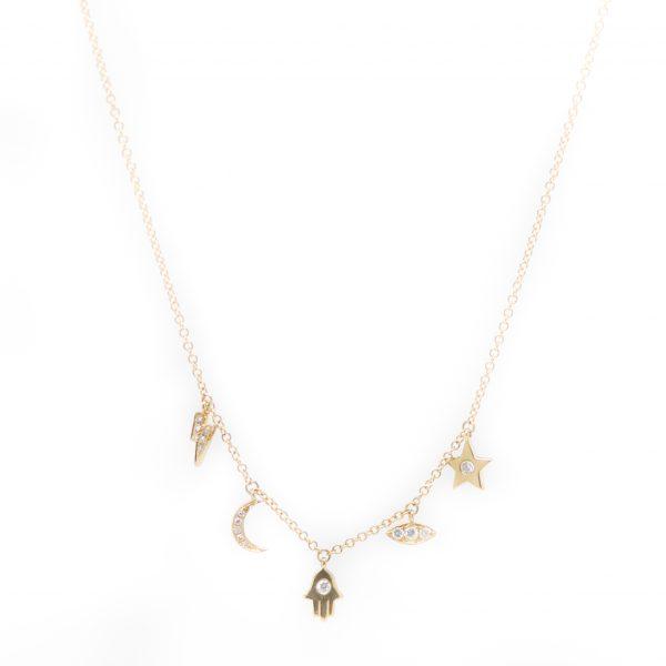 , Hamsa Charm Necklace