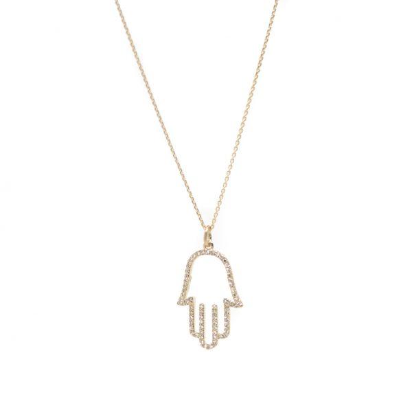 , Hamsa Diamond Pendant