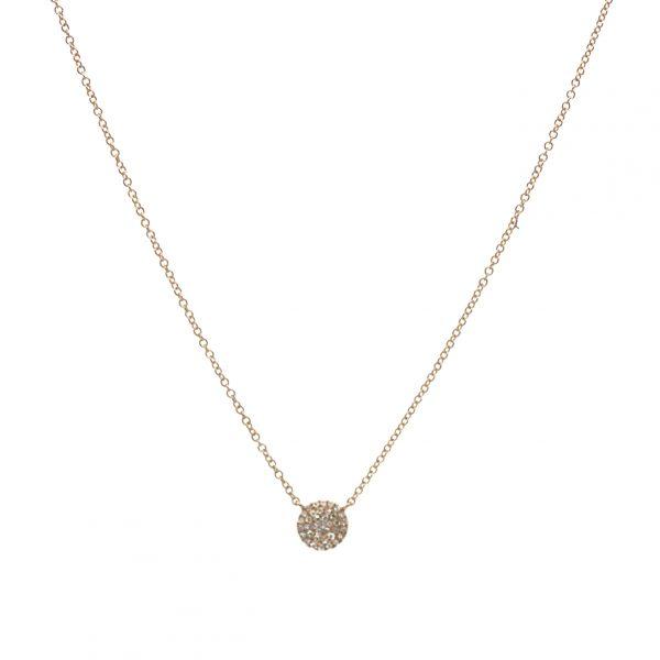 , Diamond Disc Necklace