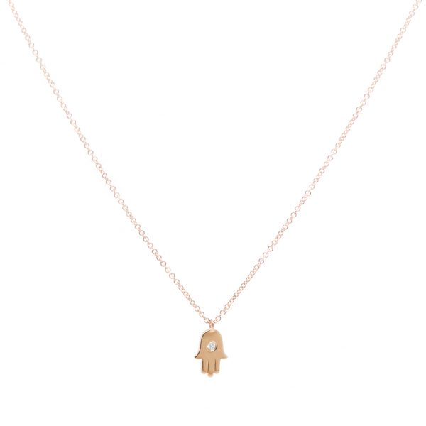 , Hamsa Hand Diamond Necklace