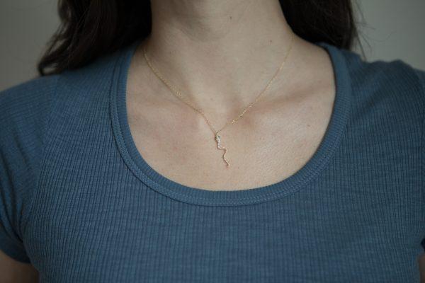 , Diamond Snake Necklace