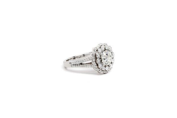 , 1.30 CT Old European Cut Diamond Ring