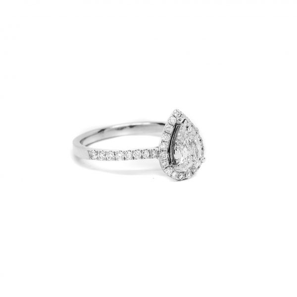 , 0.63 Pear Engagement Ring