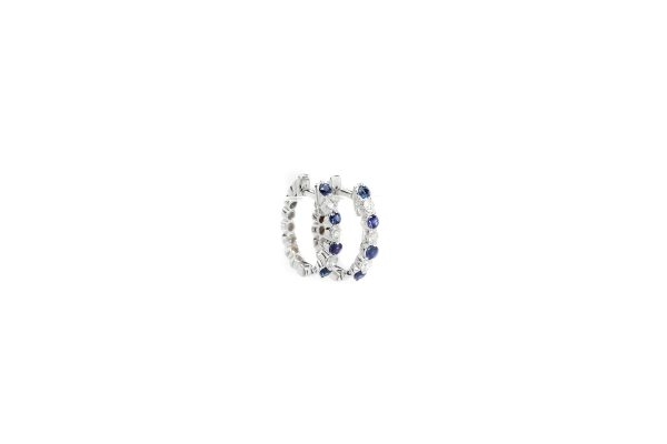 , S. Kashi Diamond and Sapphire Hoops