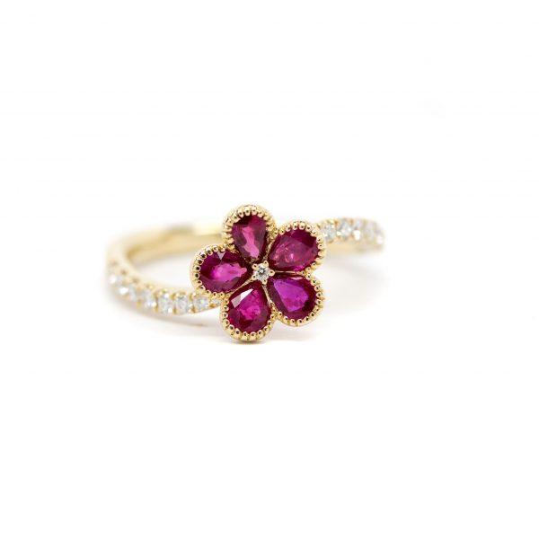 , S. Kashi Flower Ruby + Diamond Cocktail