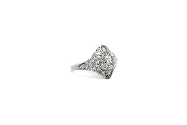 , Antique Filigree Shield Ring
