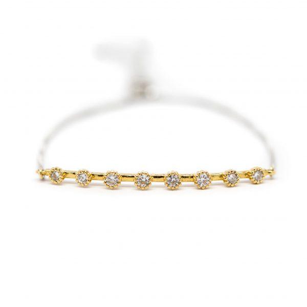 , Bezel Set Diamond Bar Bracelet