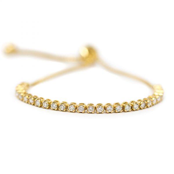 , Diamond Line Bolo Bracelet