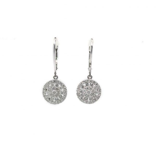 , Diamond Pave Dangle Earrings