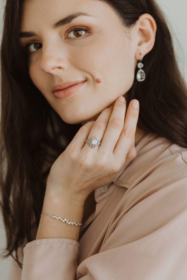 , Constellation Style Diamond Bolo Bracelet