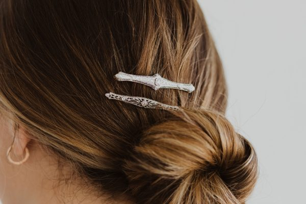 , Antique Hair Pin with Diamonds