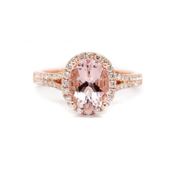 , 1.78 Pink Morganite Ring