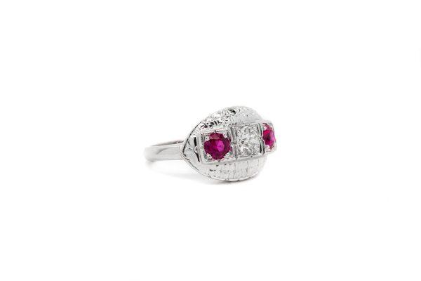 , Estate Ruby + Diamond Dinner Ring