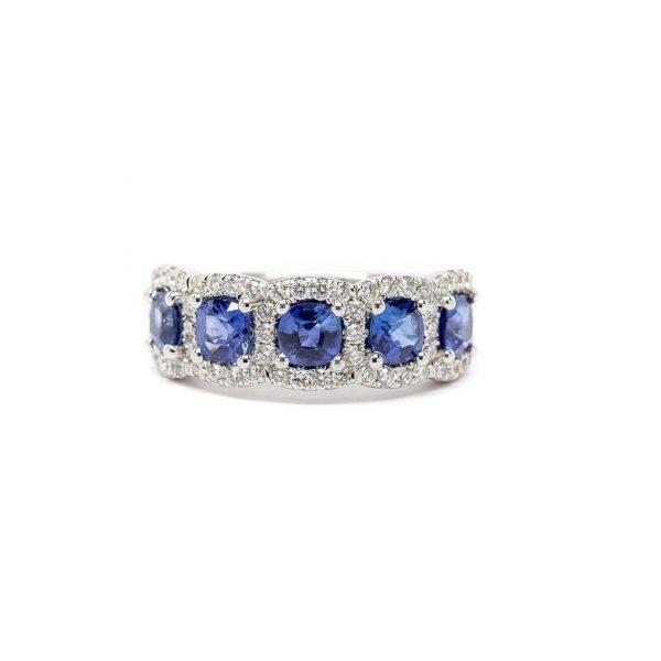 , Diamond + Sapphire Band