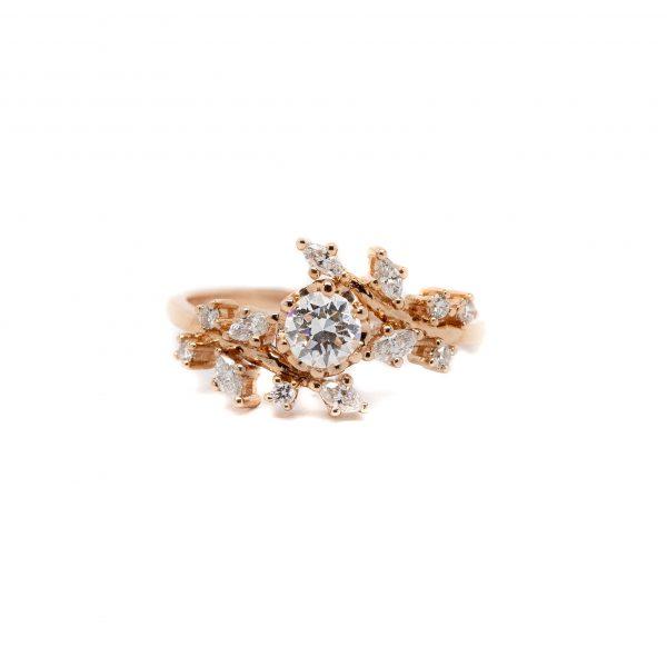 , Organic Flower Fashion Ring