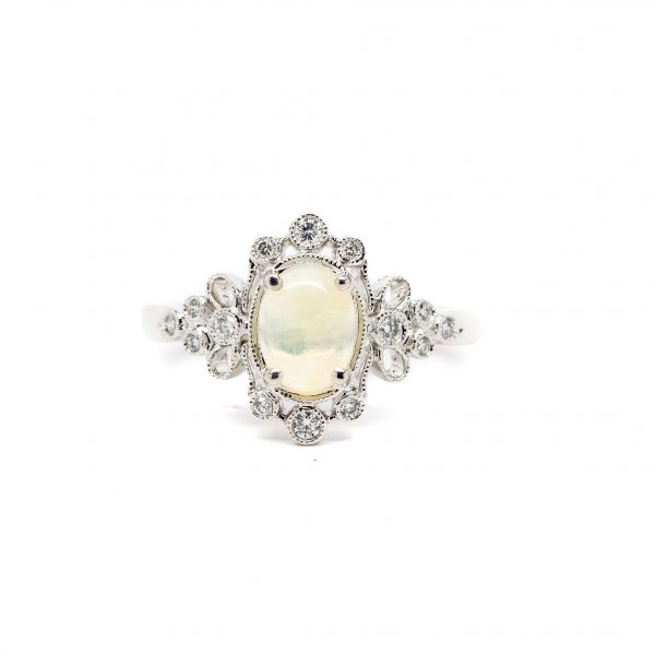 , Opal Diamond Ring
