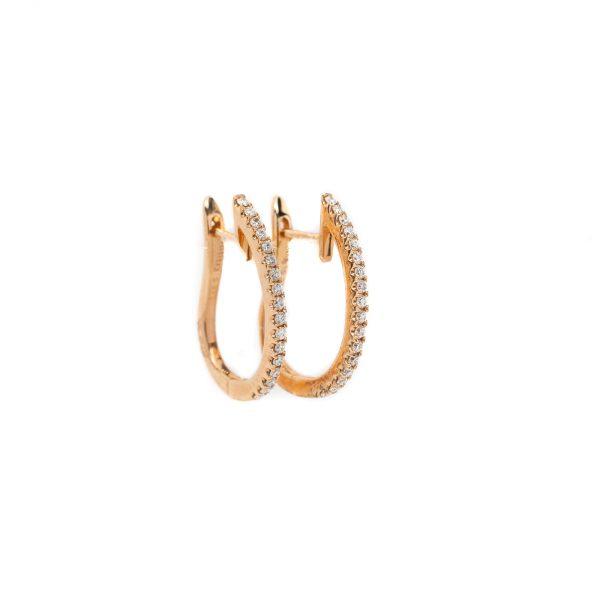 , 20 MM Rose Gold Diamond Hoops