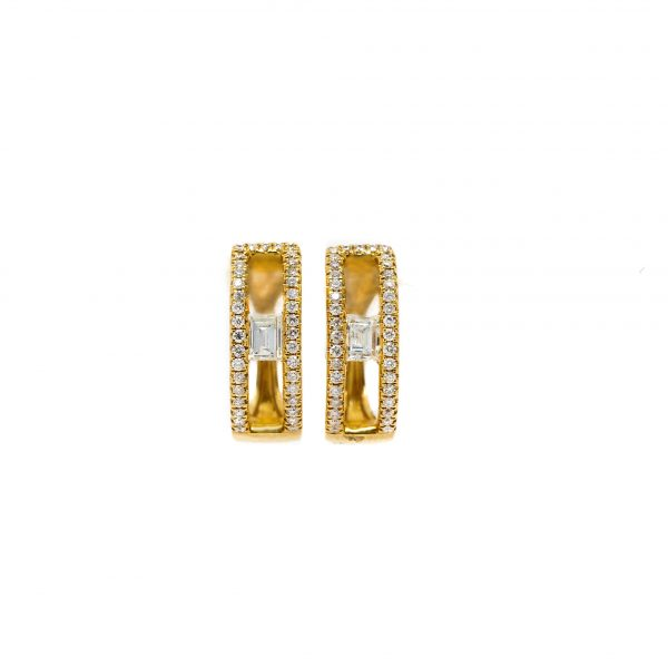 , Baguette Accented Earrings
