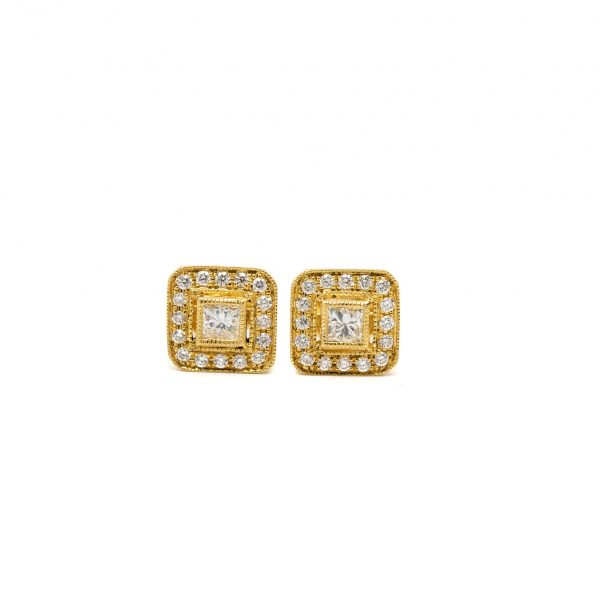 , Doves Square Stud Earrings
