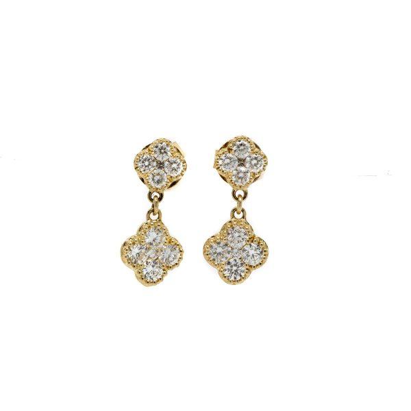 , Clover Dangle Earrings