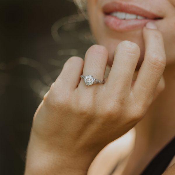 , Antique Platinum Engagement Ring