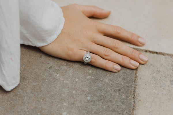 , Vintage 2.40 CT European Cut Diamond Engagement Ring