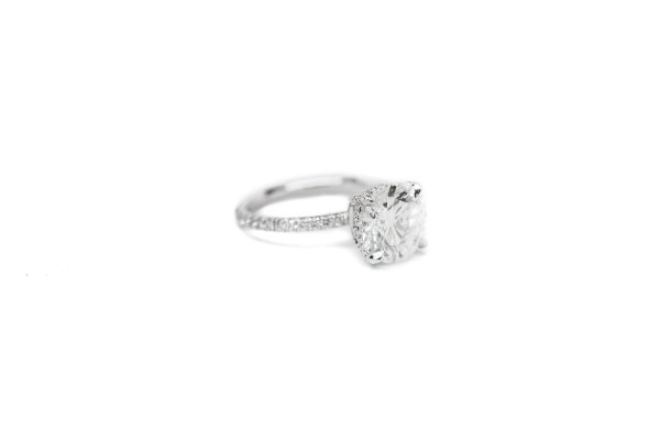, 3.02 CT GIA Platinum Engagement Ring