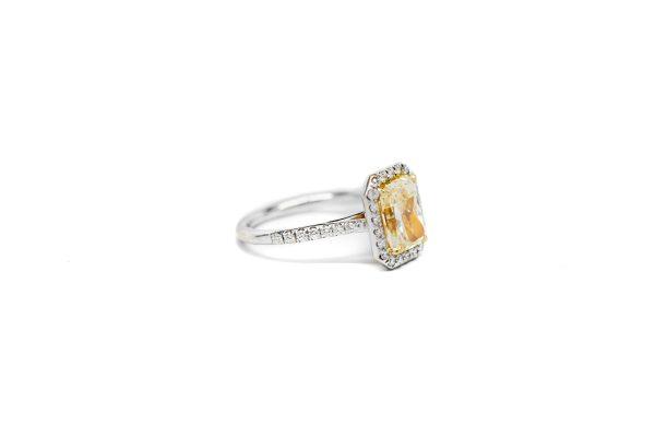 , 2.12  Radiant Cut Engagement Ring