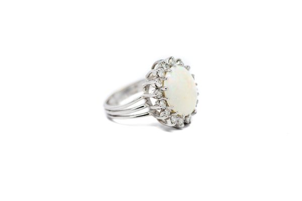 , Opal Diamond Cocktail Ring
