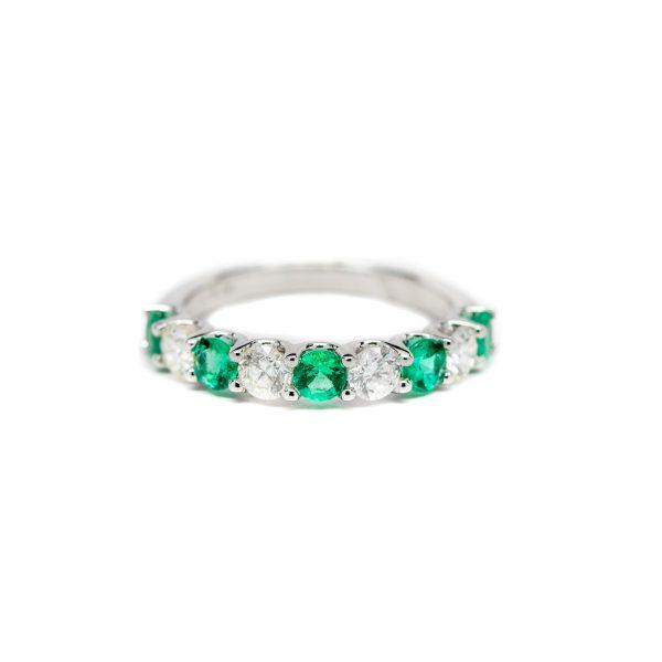 , Emerald + Diamond Band