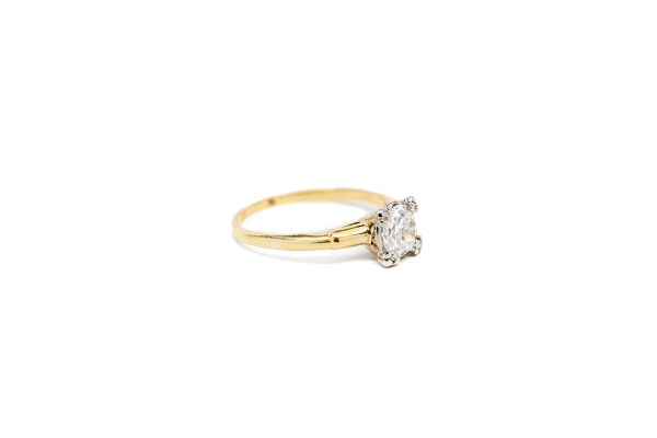 , Vintage Euro Cut Diamond Engagement Ring