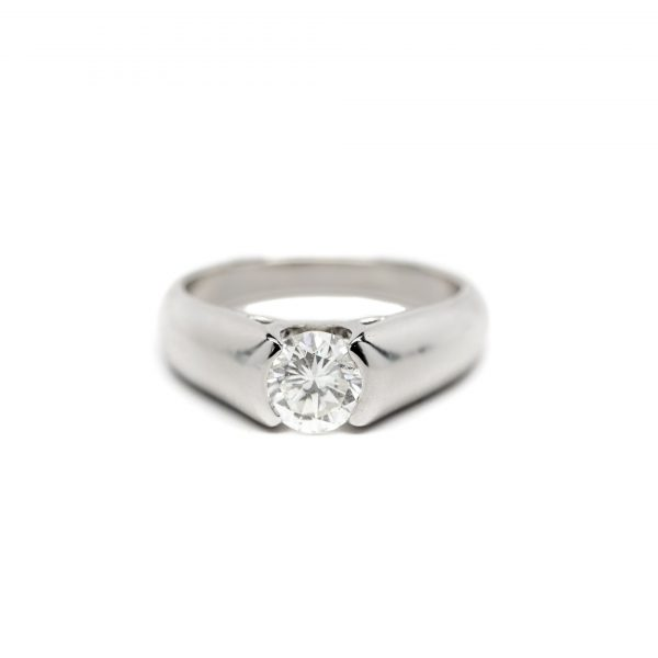 , Round Brilliant Cut Diamond Ring