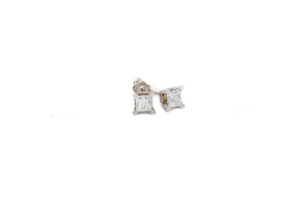 , 0.60 CTW Princess Diamond Studs
