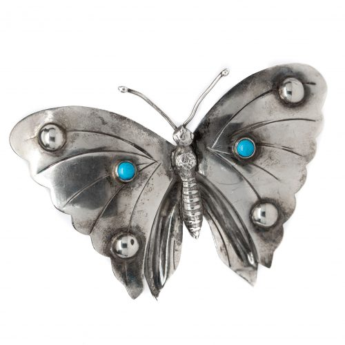 , Silver + Turquoise Pin