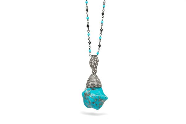 , Turquoise Pendant Necklace
