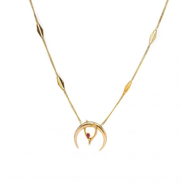 , Wishbone Ruby Necklace