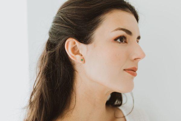 , Emerald Stud Earrings