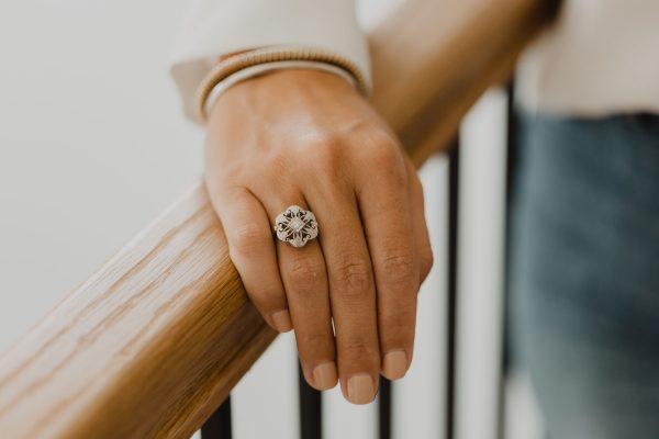 , Vintage Filigree Diamond Ring