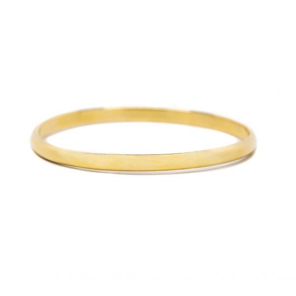 , 14 KT Yellow Gold Slip on Bangle