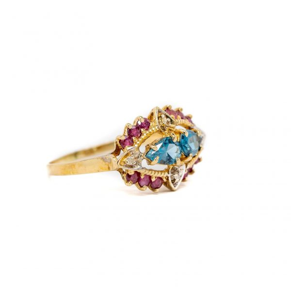 , Blue Topaz Fashion Ring