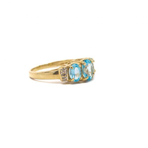 , Estate Blue Topaz Ring