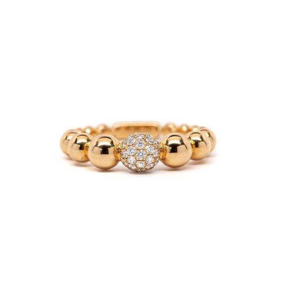 , Rose Gold Bead Ring