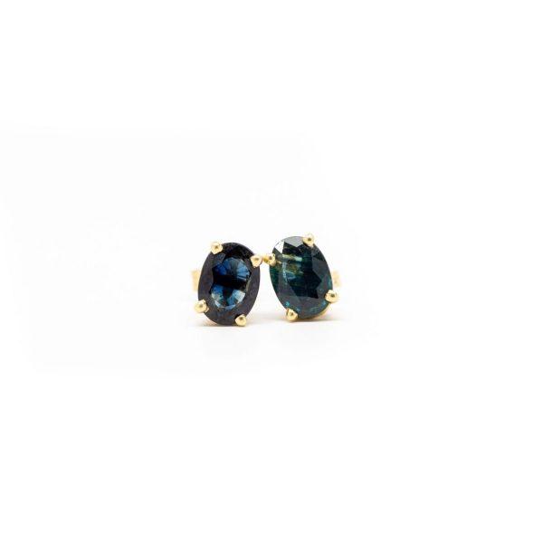 , Sapphire Stud Earrings