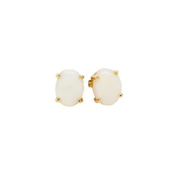 , Oval Opal Stud Earrings