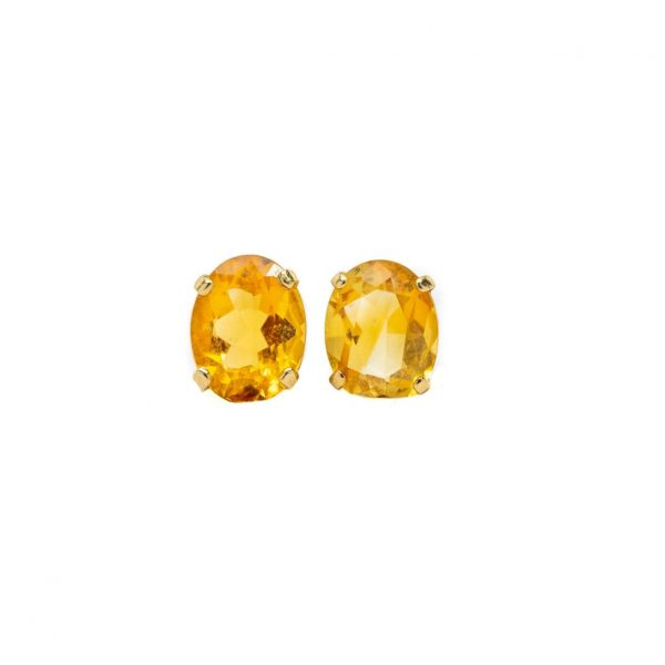 , Citrine Stud Earrings
